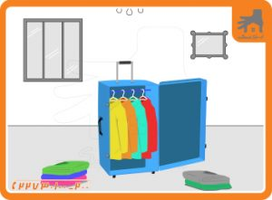بسته بندی لباس در اثاث کشی