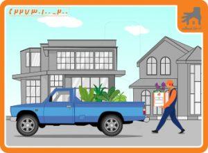 حمل و نقل گل در اثاث کشی